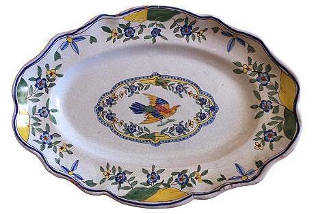 Antique French Faience Wall Platter