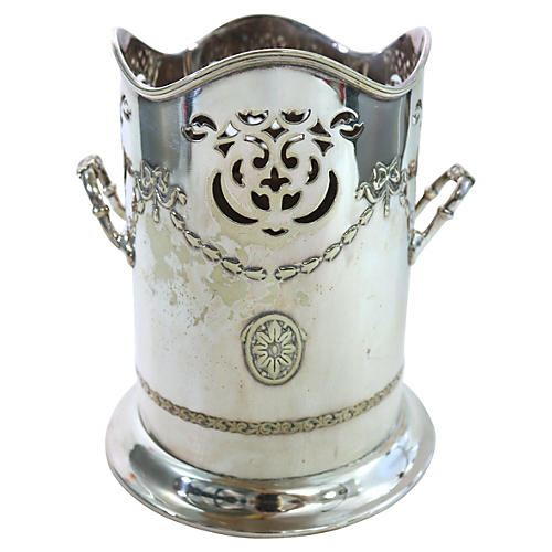 English Silver Plate Wine Cooler