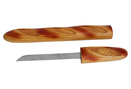 French Baguette-Shaped Bread Knife
