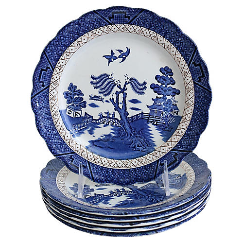 English Willow Plates, S/6