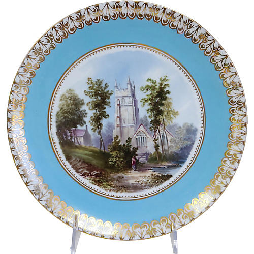 Hand-Painted English Wall Plate