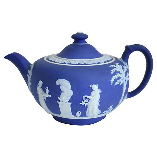 Antique Wedgwood Salt Glaze Teapot