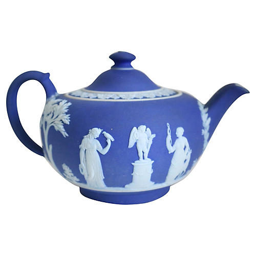 Antique Wedgwood Salt Glaze Teapot