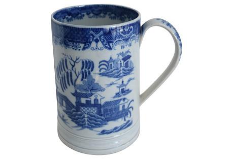 1820s  Pearlware Willow Pint Tankard