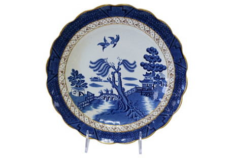 English Willow Cake Plate
