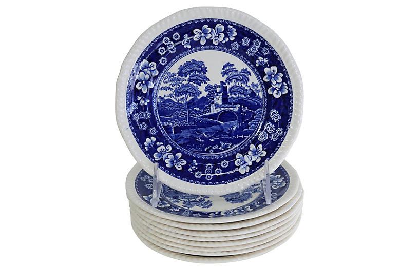 Copeland Spode's Tower Cake Plates, S/9