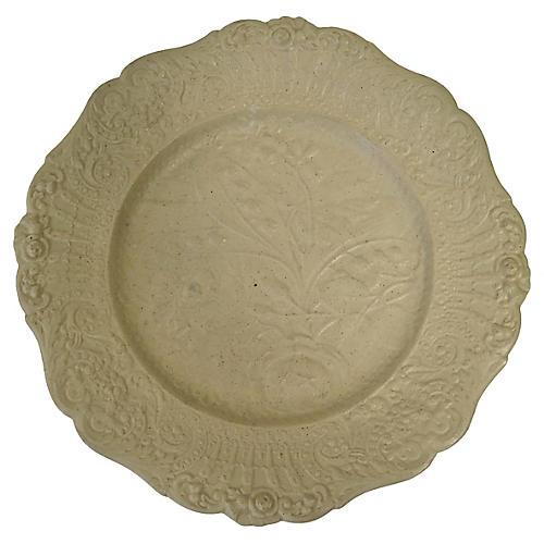 Antique Victorian Salt Glazed Plate