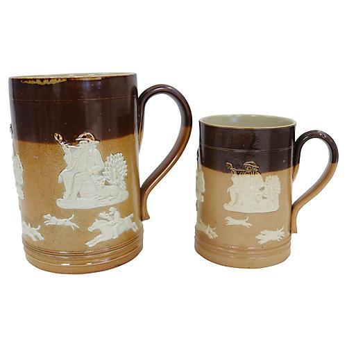 Royal Doulton Hunt Scene Ale Mugs, S/2