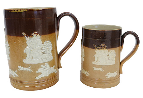 Royal Doulton Hunt Scene Ale Mugs, S/2