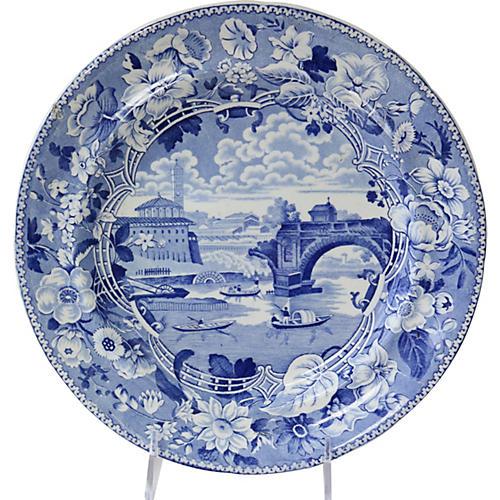 1820s English Pearlware Wall Plate