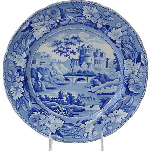 1820s English Staffordshire Wall Plate