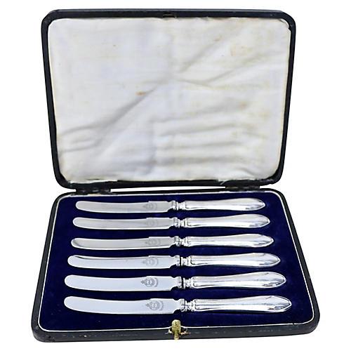 1921 Sterling Handled Fruit Knives, S/6