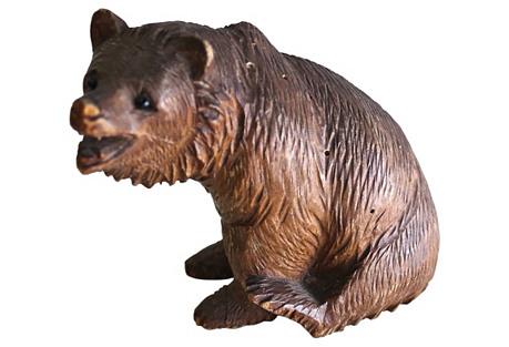 Antique Carved Black Forest Bear
