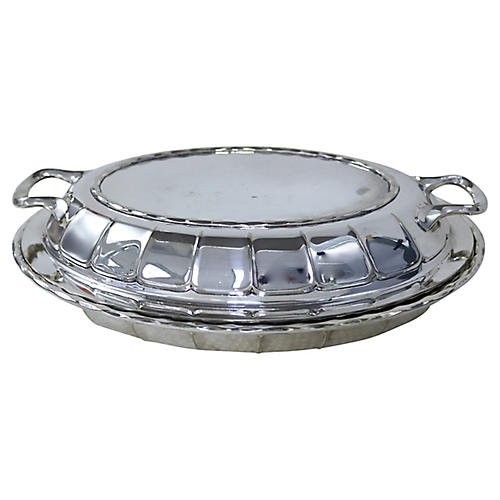 Walker & Hall Silver-Plate Covered Dish