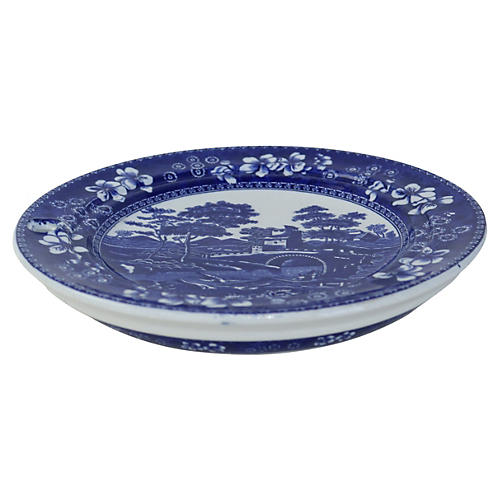 Antique Spode's Tower Warming Plate