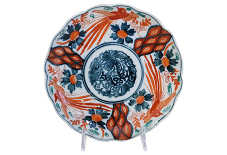Antique Japanese Imari Wall      Plate