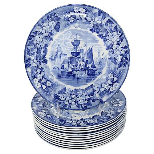 Wedgwood Ferrara Dinner Plates, S/12