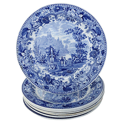 1830s Staffordshire Dinner Plates, S/8