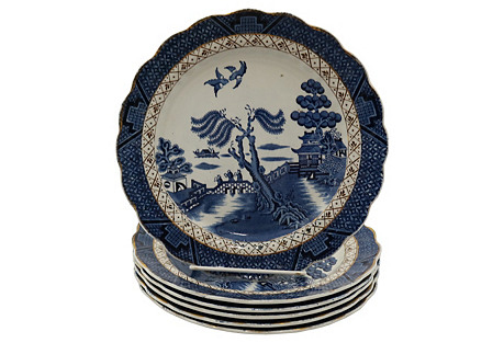 English Willow Plate, S/6