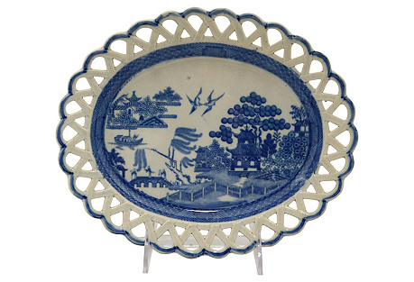 1820s Willow Staffordshire Dish
