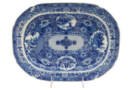 1820s English Net Pattern Platter