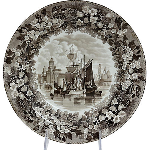 Antique Wedgwood Ferrara Ship Bowl