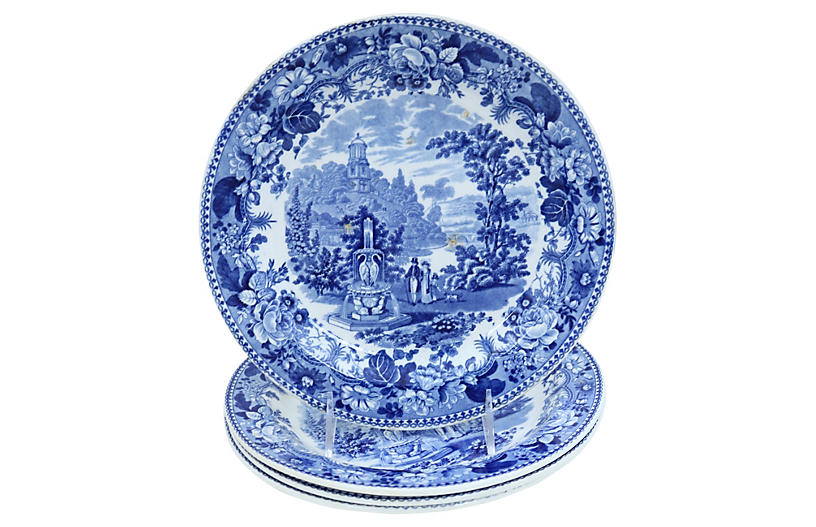 1830s Staffordshire Dinner Plates, S/4