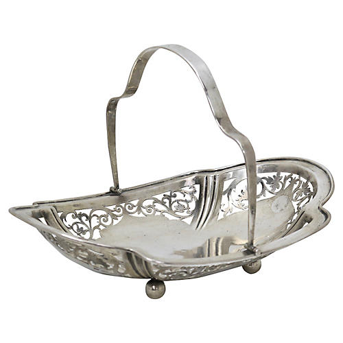 English Sterling Silver Basket, 1924