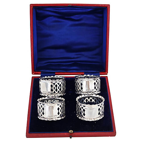 1906 Sterling Napkin Rings, S/4