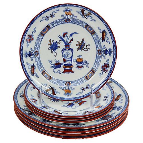 Antique Minton's Plates, 8 Pcs