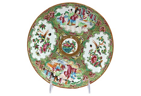Antique Chinese Famille Rose Wall Plate