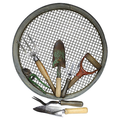 Assorted English Garden Tools Set, 8 Pcs