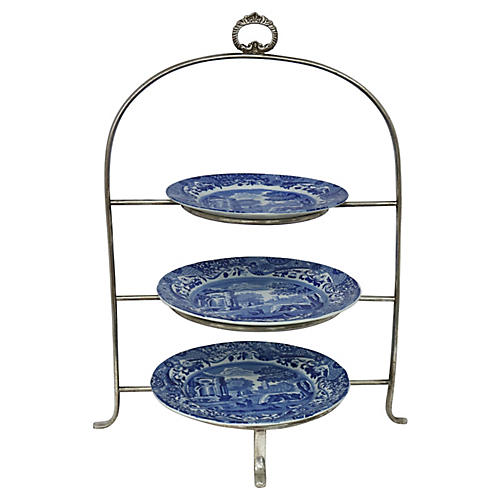 English Spode Afternoon Tea Set, 4 Pc