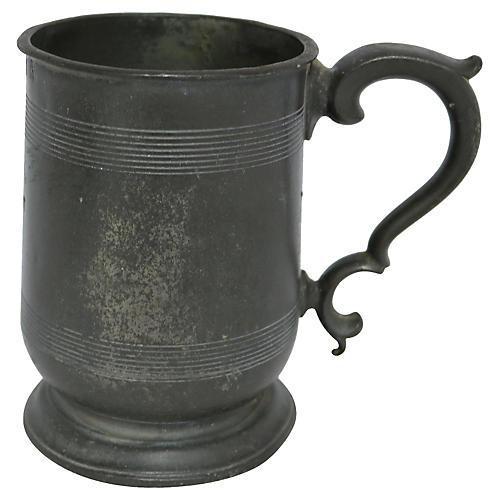 Victorian Pewter Tankard