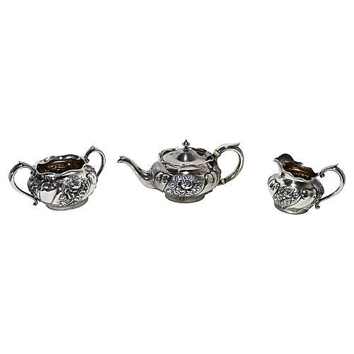 Sterling Silver Tea Set, 3-Pcs