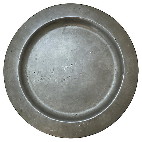 Antique Pewter Charger