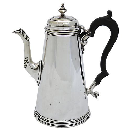 Antique English Silver-Plate Coffeepot