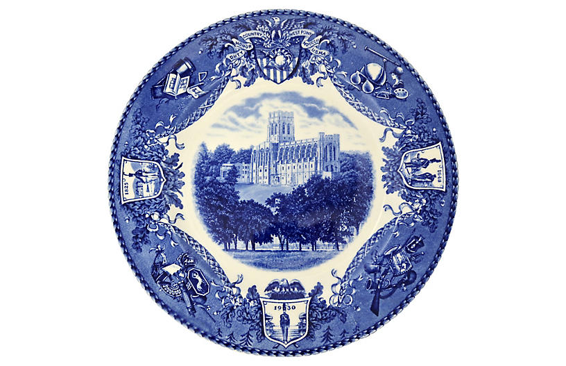 Wedgwood West Point Cadet Wall Plate