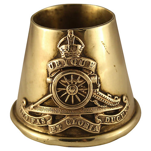 Royal Artillery Trench Art Match Holder