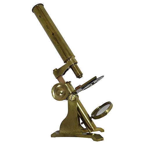 Antique Brass Doctor's Microscope