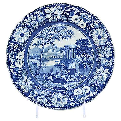 1830s Staffordshire Deer Wall Plate