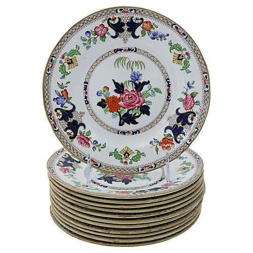 Antique Minton's Dessert Plates, S/12