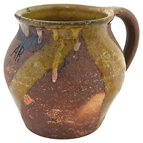 Antique French Terracotta Jug