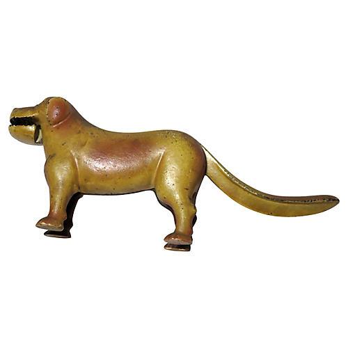 Antique Cast Iron Dog Nutcracker