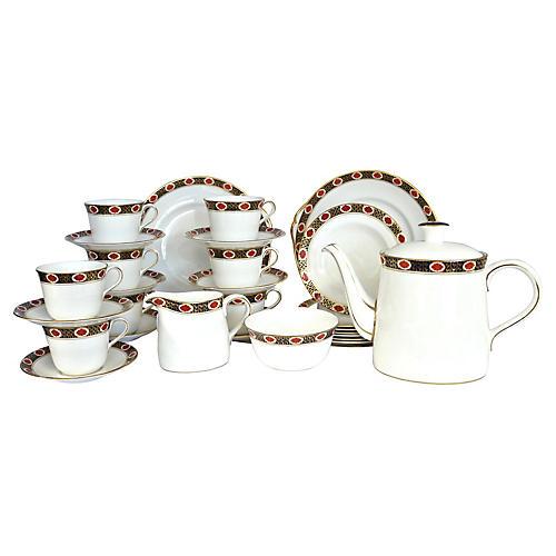 Crown Derby Coffee/Tea & Dessert, 31 Pcs
