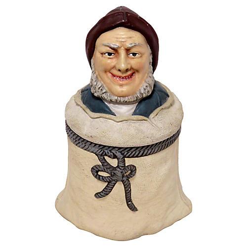 1880s New England Fisherman Tobacco Jar