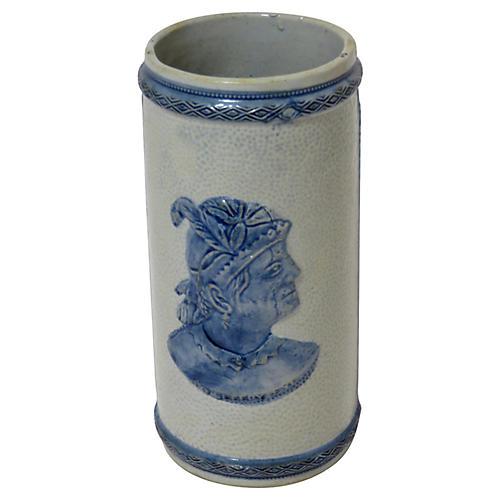 Antique Old Sleepy Eye Stoneware Vase