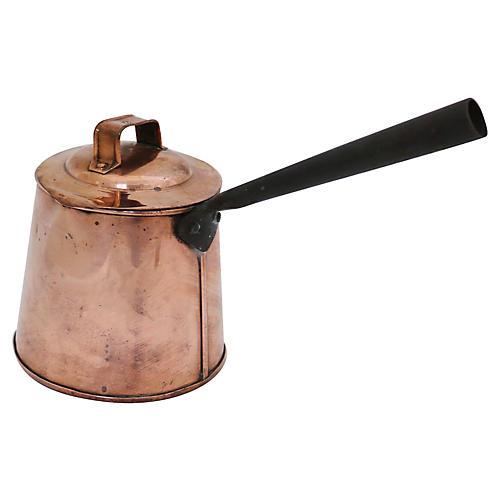 Antique English Copper Ale/Cider Warmer