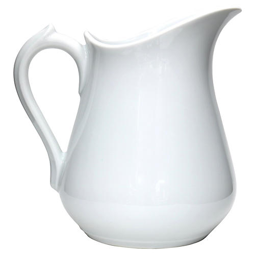 Antique French White Porcelain Water Jug