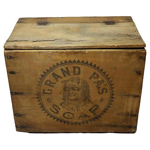 Antique Grand Pa's Soap Shipping Box